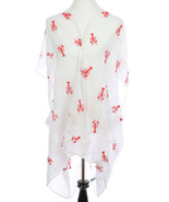 SCARF / LOBSTER EMBROIDERED / SHEER COVERUP PON... - $25.00