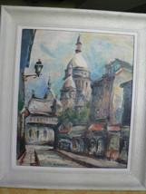 Antique Montmartre Original Oil Painting Paris ... - $220.00