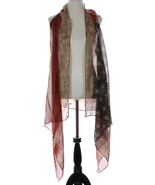 SCARF / DISTRESSED AMERICAN FLAG / VEST / RED W... - $25.00