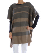 SCARF / STRIPED / SLEEVED PONCHO / WOVEN / 32 I... - $25.00