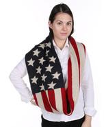 SCARF / PATRIOTIC PRINT / AMERICAN FLAG / INFIN... - $25.00