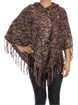 SCARF / SEQUIN EMBELLISHED / HOODED PONCHO / SI... - $25.00