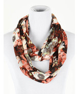 SCARF / FLORAL PRINT / INFINITY / SHEER / WOVEN... - $25.00