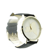FASHION WATCH / NEW YORK STATE / LEATHER BAND /... - $35.00