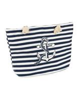 BAG ACCESSORY / ANCHOR PRINT / STRIPE BEACH TOT... - $15.00