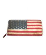 BAG ACCESSORY / AMERICAN FLAG PRINT / VINYL CLU... - $15.00