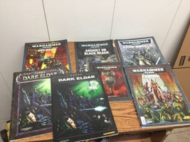 Lot of 7 Warhammer and Codex Rule Book Manual Lot - $28.04