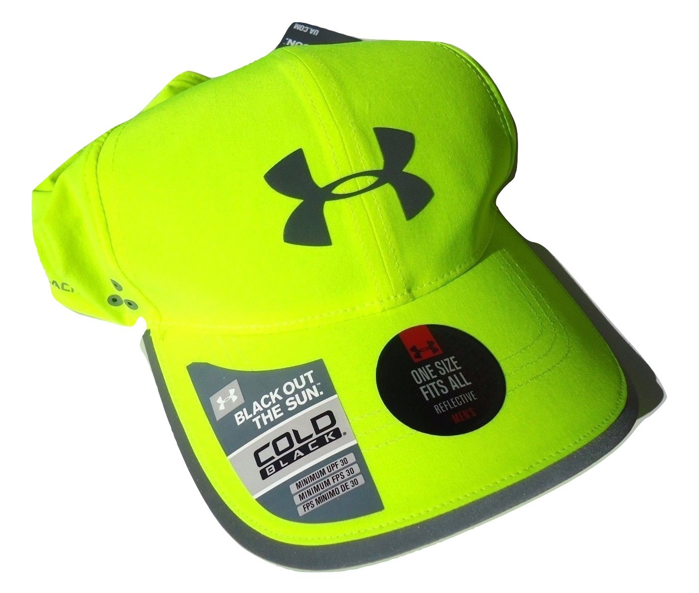 Primary image for NEW! Neon Lime Under Armour Men Heatgear Reflective Runner Adjustable Cap