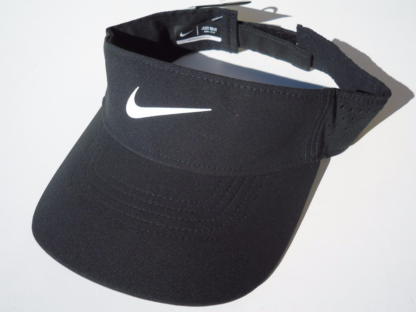 aa11c5bc659ac S l1600. S l1600. Previous. NEW! Black White NIKE Adult Unisex Golf Tech  TOUR Perforated Visor by NIKEGOLF