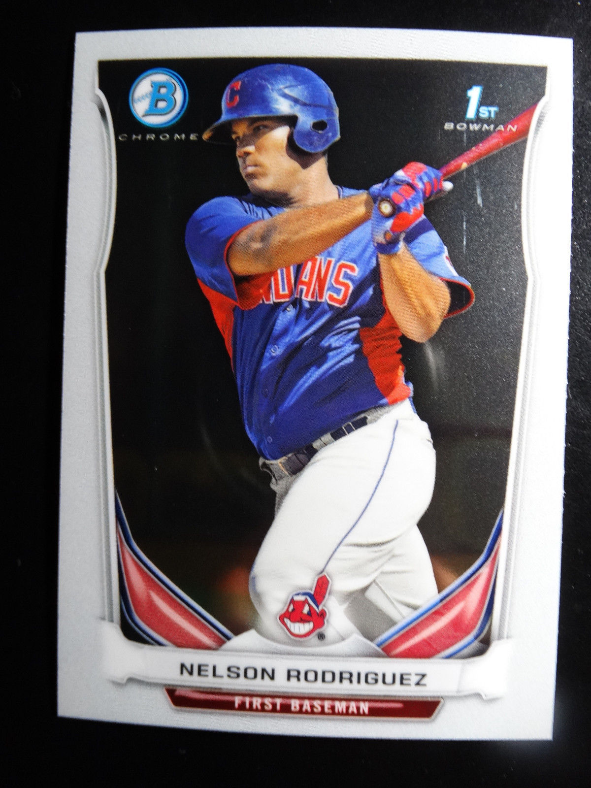 Primary image for 2014 Bowman Chrome BCP92 Nelson Rodriguez Cleveland Indians Baseball Rookie Card