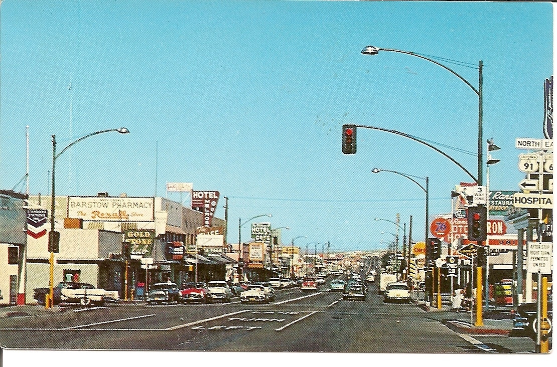 Primary image for Main Street, Barstow, California, Vintage Postcard