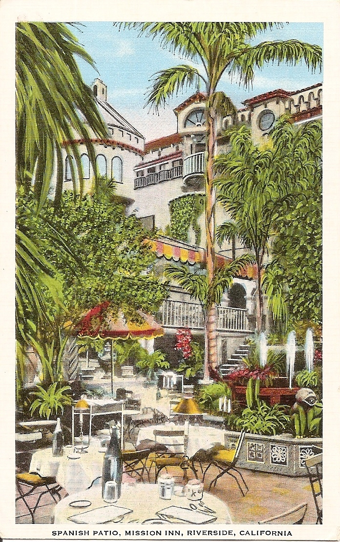 Primary image for Spanish Patio, Mission Inn, Riverside, California, Vintage Postcard