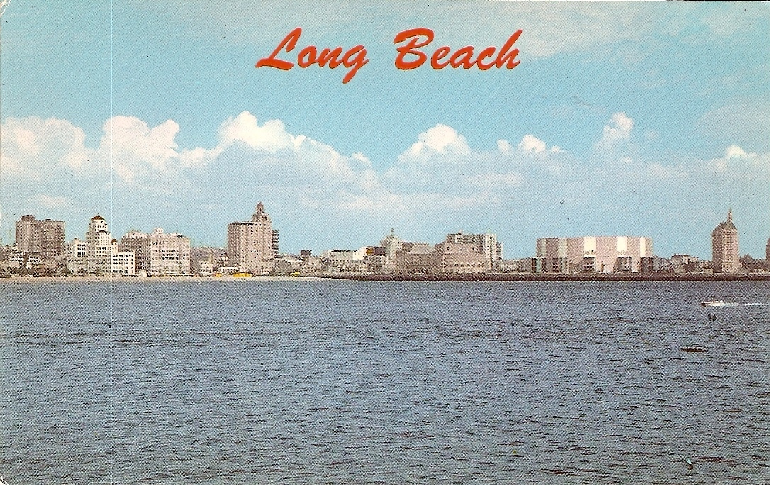Primary image for Long Beach Skyline,  California, Vintage Postcard