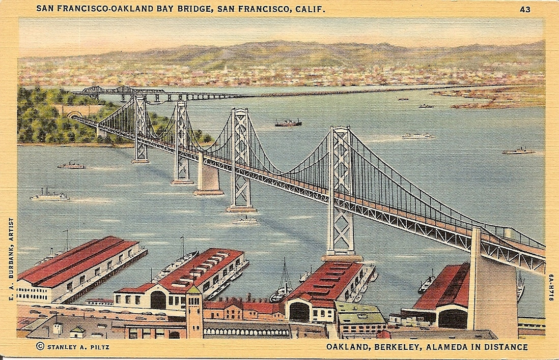 Primary image for San Francisco - Oakland Bay Bridge,  California, Vintage Postcard