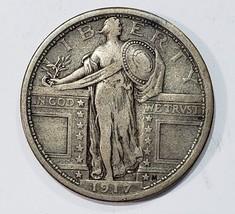 1917 Type 1 STANDING LIBERTY QUARTER COIN Lot # E 277
