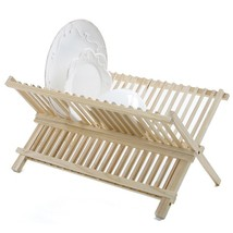 Dishes Rack, Kitchen Folding Compact Dish Rack Drainer Wood - €28,93 EUR
