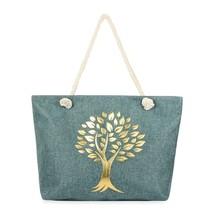 Gold printed Tree tote bag  - $45.95