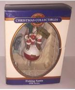 Christmas Collections Christmas Ornament Fishing Santa Sheet NIB - $6.92