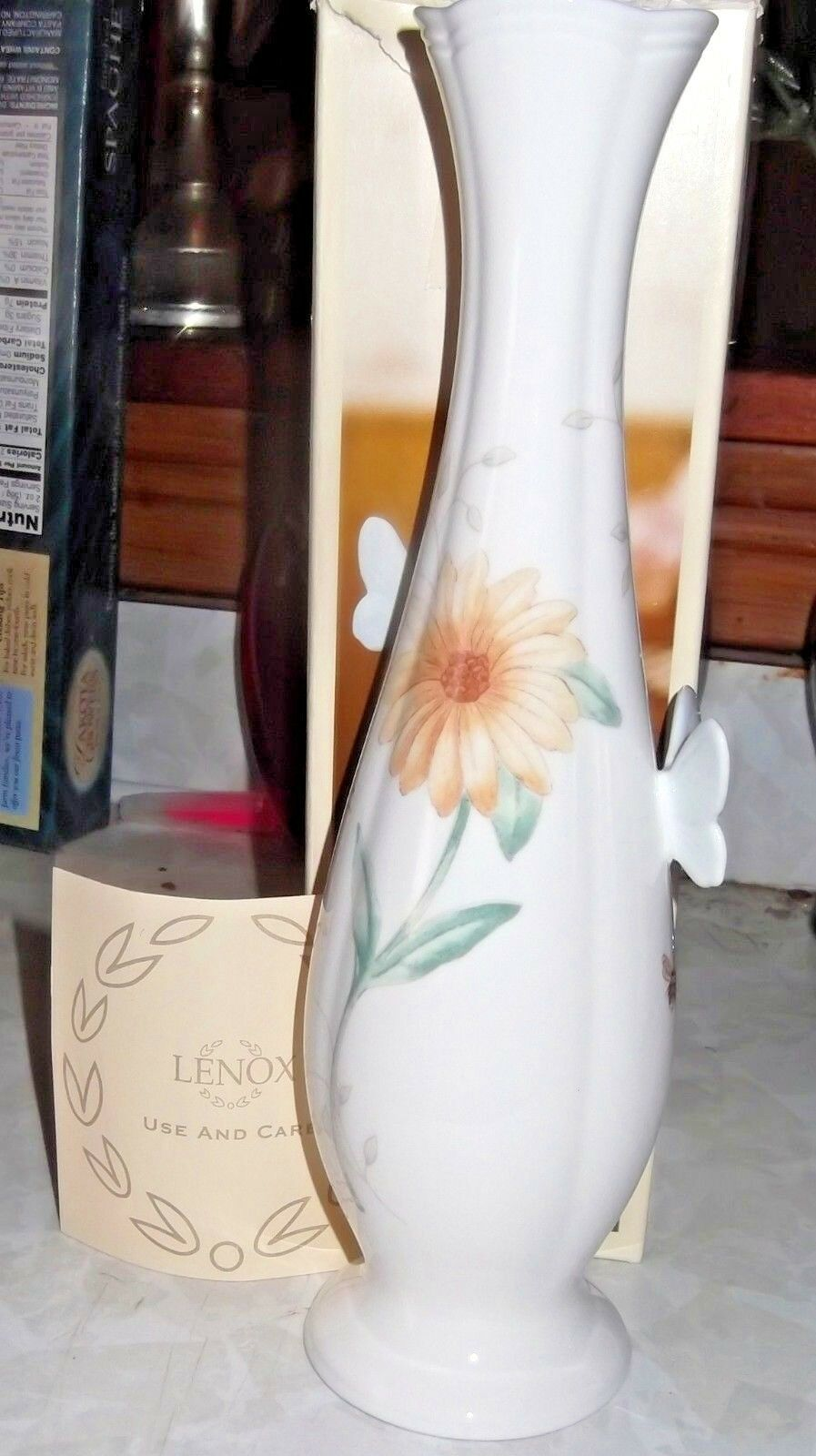 New Lenox 3D Butterfly Meadow Vase