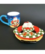Certified International Cookies and Milk Plate and Mug Cup  Set Mrs Clau... - $17.75