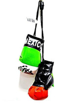 Mexico Mexican Mini Boxing Gloves Car Flag Decoration Mirror Hanging Orn... - $8.99