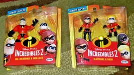 Incredibles 2 Elastigirl & Dash Figures and Mr. Incredible & Jack- Jack Figures - $19.99