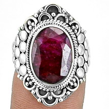 Indian Ruby 925 Sterling Silver Ring Jewelry s.6 SDR6992 - $30.34