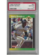 1989 Donruss #92 Barry Bonds PSA 10 GEM MINT Pirates - $58.16