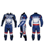 Suzuki MotorBike Leather Suit Racing Motorcycle Leather Suit With CE Arm... - $229.99
