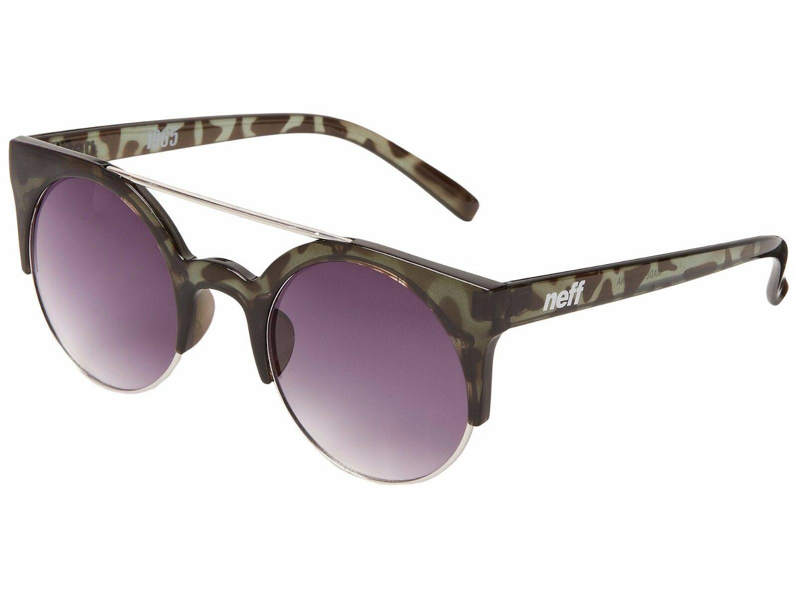 Neff Leopard Acetate Metal Round 1965 Style 400 UV Shades Sunglasses Sunnies NWT