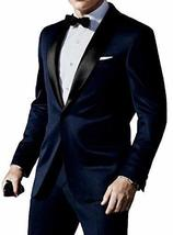 Skyfall James Bond Midnight Blue Tuxedo Suit image 1