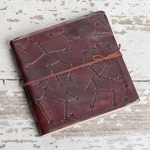 Stars Square Handmade Leather Journal - $45.00