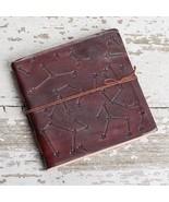 Stars Square Handmade Leather Journal - $45.00
