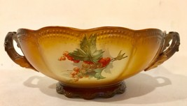 Homer Laughlin Victorian Art China Center Bowl With Double Handles Grape... - $29.95