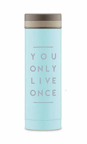 Tums Cafe You Only Live Once Stainless Steel Double Vacuum Insulated Beverage Th