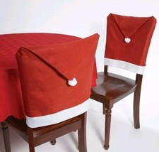 "Christmas House 20"" Santa Hat Chair Covers Set of 4 - $12.19"