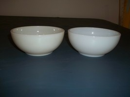 "Lot Of Two Vintage Fire King White Chili Bowls 5"" Diameter Across The Top - $22.76"