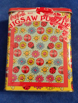 """1999 Coca-Cola 75 Pc Jigsaw Puzzle 7""""x9"""" In Tin Flowers - Coke - Sealed - $12.30"""