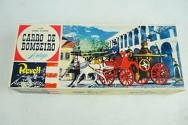 Vintage Revell Carro De Bombeiro Antigo Horse Drawn Fire truck Model Sealed Bags - $28.02