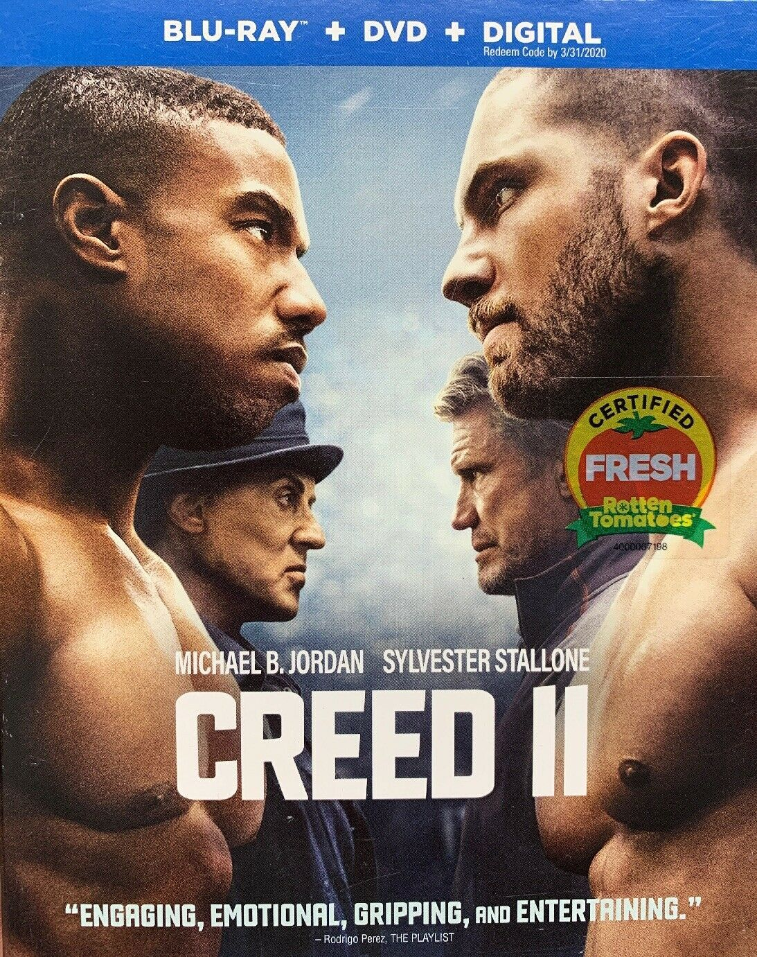 Creed 2 (Blu-ray + DVD + Digital, 2019)