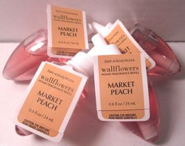 4 Bath & Body Works Wallflower Diffuser Refill Bulb Market Peach - $29.99