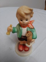 Boy with Horn and Horse Figurine W Germany #239 C Signed and Dated 1967 image 1