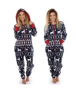 Women Long Sleeve Ladies 3D Christmas Elk Printed Jumpsuit Pyjamas Night... - £33.00 GBP