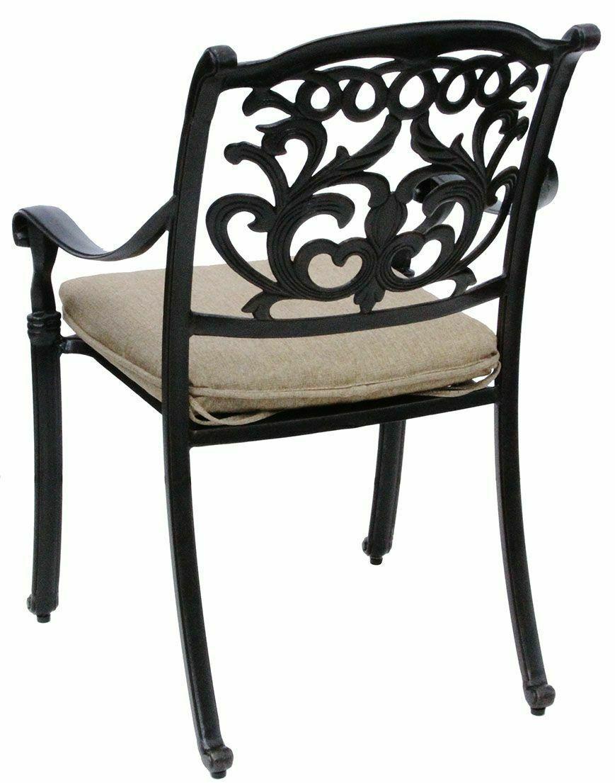 Patio dining Set 7Pc Cast Aluminum Furniture Outdoor Table Chair Flamingo Bronze image 3