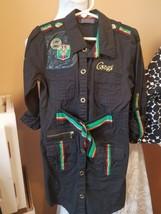 Coogi 6x little girls black long sleeve dress with faux belt - $19.79