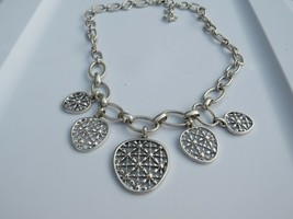 Lucky Brand Silver Tone Charm Necklace - New - $19.80