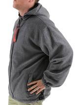 Lax Men's Water Resistant Removable Hood Security Reversible Jacket Black image 9