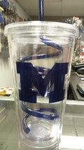 NCAA Michigan Wolverines 18oz Tumbler with Swirl Straw - $19.59