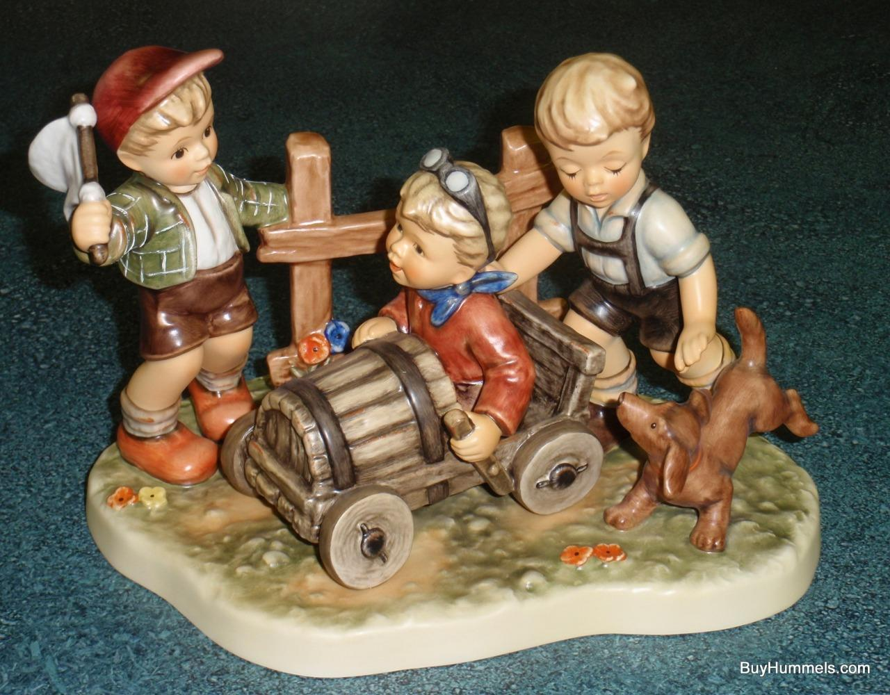 Primary image for Soap Box Derby Goebel Hummel Figurine #2121 TMK8 Moments In Time Collection RARE