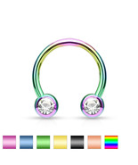 1 PC 16G 14G Titanium Anodized Circular Horsesh... - $4.50